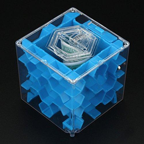 Orbiter Collection (Livoty 3D Cube Puzzle Money Maze Bank Saving Coin Collection Case Box Fun Brain Game (blue))