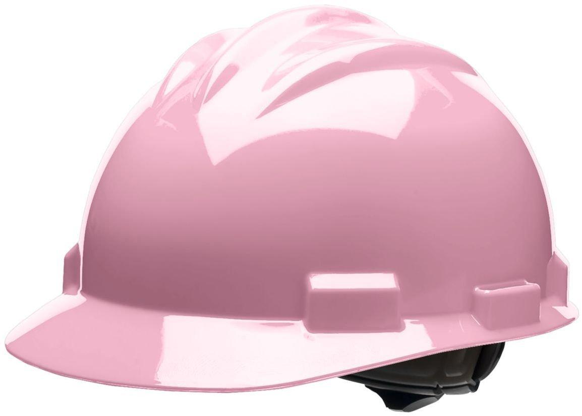 Bullard 61LPR Standard Series Cap Style Hard Hat, 4 Point Suspension Ratchet, Cotton Brow Pad, Light Pink, One Size