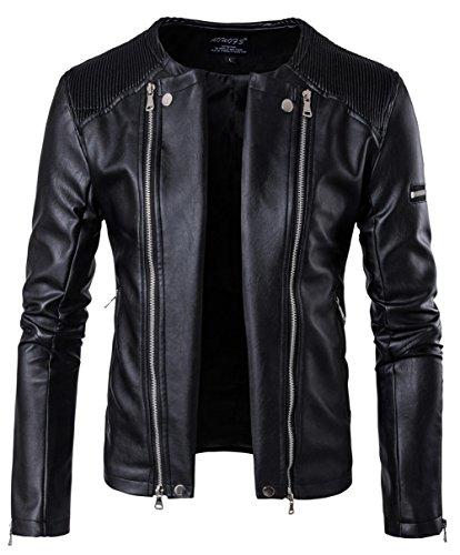 YYZYY chaqueta hombre Chaqueta B001 Black para UxwprB7qU