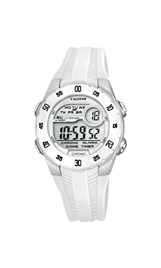Calypso Reloj Digital para Unisex de Cuarzo con Correa en Plástico K5744/1: Amazon.es: Relojes