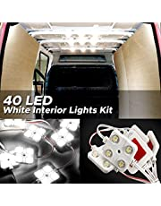 Audew LED Auto Innenbeleuchtung Innenraumbeleutung Lampe 10x4 Interior Licht Auto Leseleuchte LED Panel Kits Weiß 12V 38mm*38mm