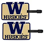 Washington Huskies - NCAA Soft Luggage Bag Tag - Set of 2
