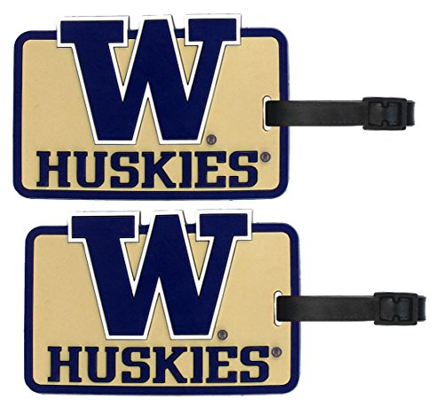 Washington Huskies - NCAA Soft Luggage Bag Tag - Set of 2 by NCAA