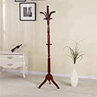 YiHai Coat Rack Stand Hall Tree Entrayway Jacket Purse Scarf Rack