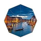 Italy Venice Landscape River View Art Deco Foldable Umbrella