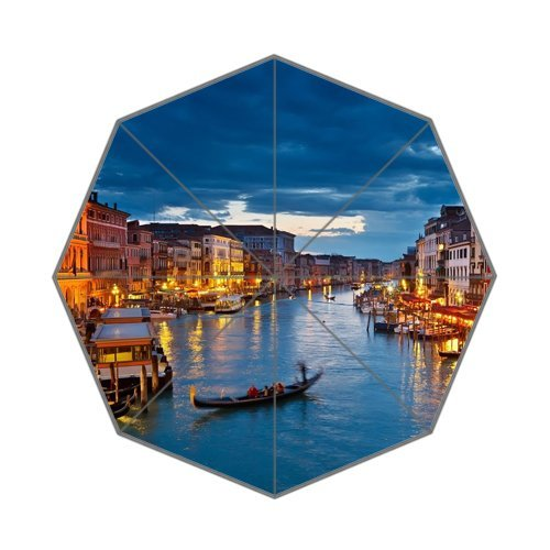 Italy Venice Landscape River View Art Deco Foldable Umbrella by SunnyCloud