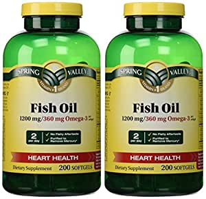 Spring valley fish oil 1200 mg 360 mg omega 3 for Spring valley fish oil review