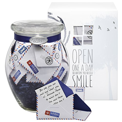 KindNotes Glass Keepsake Gift Jar of Personalized Messages for Him or Her...
