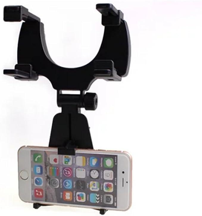 CAOLATOR Soporte móvil Espejo retrovisor de Coche para iPhone 7 / 6s / 6 / 5s / 5, Samsung Galaxy, LG G3,Huawei,Xiaomi y más (Negro).: Amazon.es: Electrónica