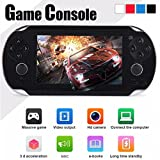 Hometom Player, 8GB 4.3'' 300 Games Built-In Portable Handheld Video Game Console (Black)