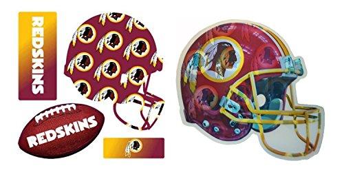 Locker Nfl Washington Room Redskins (Washington Redskins 3-D Helmet & 3-D Multi-Sheet Magnet)