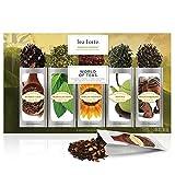 Tea Forte World of Teas Single Steeps Loose Leaf Tea Sampler, 15 Single Serve Pouches - Green Tea, Herbal Tea, Black Tea