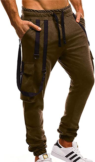 Joggers para Hombre Pantalón Hip Hop Algodón Pantalones Casuales ...