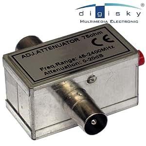 Premiumstore24 - Atenuador de señal de cable de banda ancha, de 0 a 20 dB