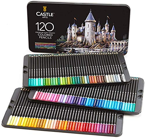 Castle Art Supplies 120 Colored Pencils Set for Adults Artists Professional   Featuring soft series core for expert… 1