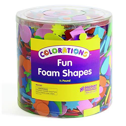 Colorations Bucket 1/2 Lb. of Fun Foam Shapes