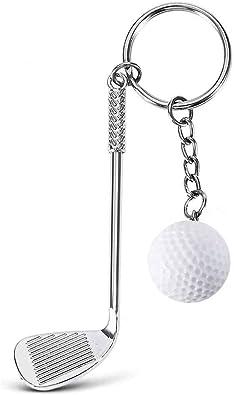 prix officiel conception adroite mignon pas cher Porte-clés Club Et Balle De Golf Blanche Argenté Bijou Homme ...