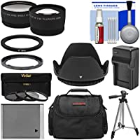Essentials Bundle for Canon PowerShot SX530 & SX540 HS Camera + Case + NB-6L Battery & Charger + Tripod + Tele/Wide Lenses + 3 UV/CPL/ND8 Filters Kit
