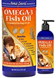 Ultra Premium Wild Caught Omega 3 Fish Oil for Dogs, Cats, Rabbits - Best For Full Glossy Coat, Ear Infections, Allergies, Dry Itchy Skin, Shedding. Essential Fatty Acids DHA & EPA, 16oz Pump