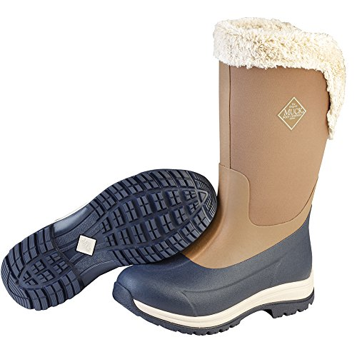 Muck Boot Women's Apres Tall (15'') Work Boot, Otter/Total Eclipse, 7 M US by Muck Boot (Image #1)