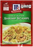 McCormick Garlic Butter Shrimp Scampi Seasoning Mix (Pack of 4) .87 oz Packets