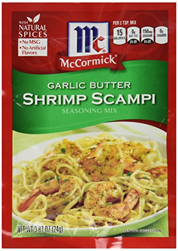 McCormick Garlic Butter Shrimp Scampi Seasoning Mix, 0.87 OZ (Pack - 4) - Garlic Shrimp Scampi