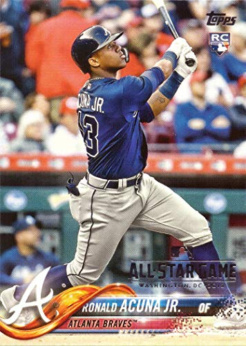 2018 Topps All-Star Game Fanfest Foil Stamped Baseball #698 Ronald Acuna Jr Rookie Card ()