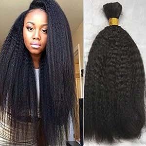 Factory Supply Wholesale Unprocessed Virgin Brazilian Human Kinky Straight Bulk Hair for Braiding 2pieces/lot 200g/packs (14)