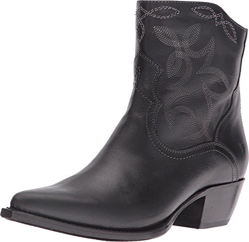 FRYE Women's Shane Embroidered Short Western Boot, Black, 6 M US by FRYE