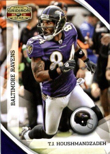 2010 Upper Deck Gridiron - 2010 Panini Gridiron Gear Football Card #13 T.J. Houshmandzadeh - Baltimore Ravens - NFL Trading Card