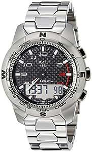 Tissot Men's T0474204420700 T-Touch II Black Chronograph Dial Watch