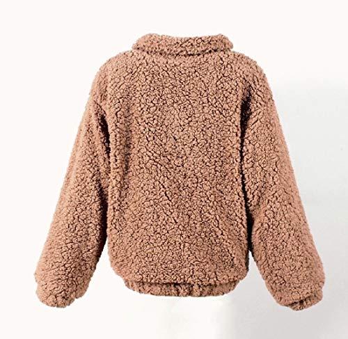 Tenere Outwear Peluche Eco In Uno Pile Energywomen Caldo pelliccia Cappotto Giacca CwR6UTqxF