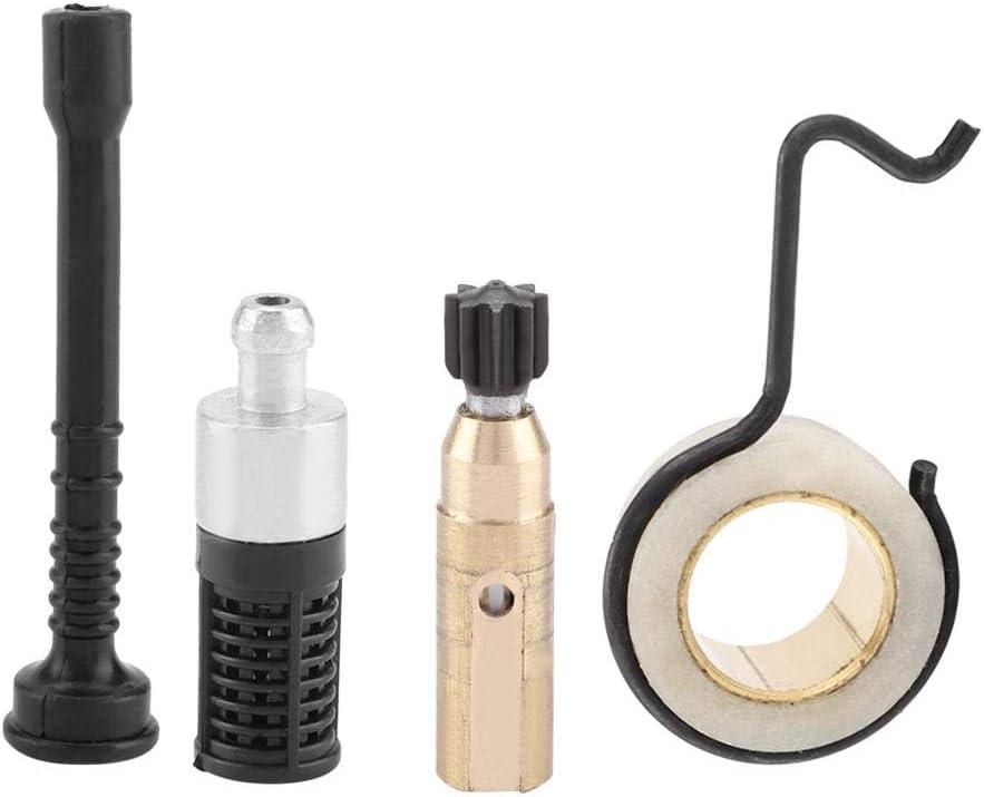 Motosierra Bomba de Aceite Engranaje helicoidal + Kits de Accesorios para filtros de tubería de Aceite para STIHL MS 250 MS230 MS 210