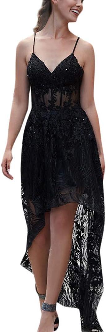 PinkLu elegancka sukienka damska, szyfonowa, wydrążona, seksowna pętla, slim fit, na urlop, nad morzem, elegancka i wygodna, modna, letnia, gorąca, czarno-biała, z dekoltem w szpic: Odzież