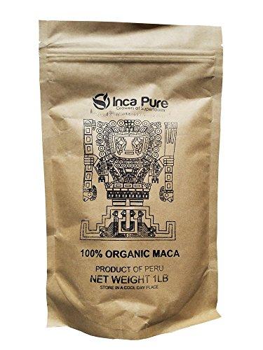 Inca-Pure-Organic-Maca-Powder-Harvested-in-Peru-100-Fresh-Superfood-Fair-Trade-JAS-Kosher-and-USDA-Organic-Certified-1lb-Fresh-Seal-Bag-5g-Serving