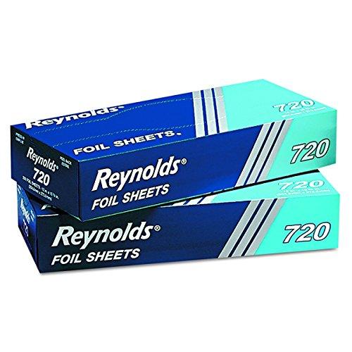(Reynolds Wrap 721 Interfolded Aluminum Foil Sheets, 12 x 10 3/4, Silver, 500/Box, 6 Boxes/Carton)