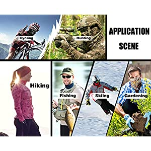 FEDDIY 6PCS Headwear for Men and Women, 16-in-1 Head Wrap, Neck Gaiter, Headband, Fishing Mask, Magic Scarf, Tube Mask, Face Bandana Mask for Camping Running Cycling Fishing