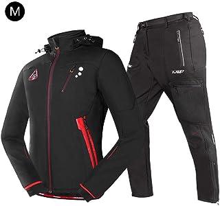 Abbigliamento da ciclismo per uomo autunno e inverno, tuta da ciclismo in pile da uomo impermeabile antipioggia in caldo Abbigliamento da equitazione a maniche lunghe + pantaloni imbottiti 3D