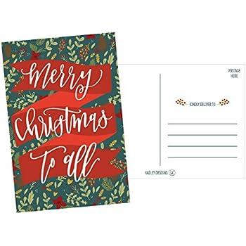 Amazon 50 holiday greeting cards cute fancy blank winter 50 holiday greeting cards cute fancy blank winter christmas postcard set bulk pack of premium seasons greetings note mistletoe happy new years for kids m4hsunfo