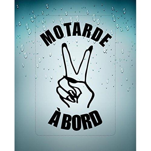 80%OFF Autocollant sticker motarde laptop voiture moto motard a bord salut noir
