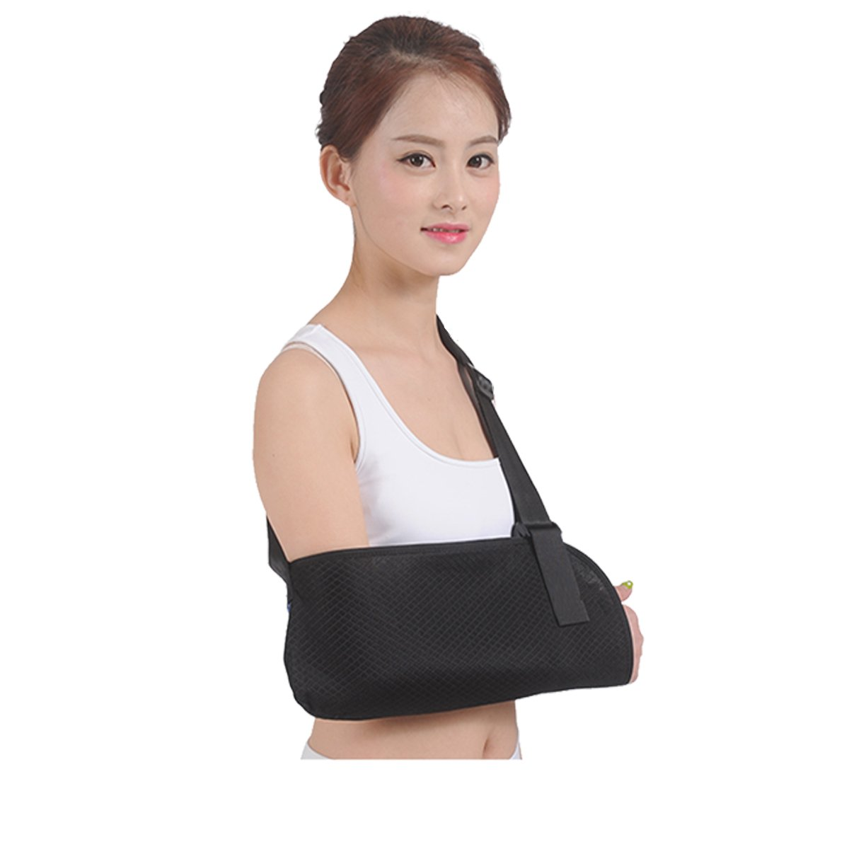 Arm Sling for Shoulder Injury Broken Arm Elbow Medical Grade Breathable Mesh Arm Support for Men Women Injury Recovery Arm Immobilizer Unisex Small Size Black