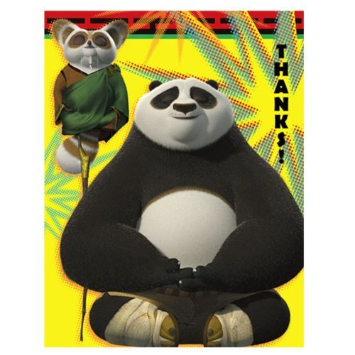 Kung Fu Panda 2- Thank-You Notes (8) Party Supplies]()