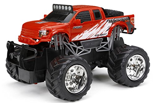 - New Bright R/C F/F Ford Raptor R Vehicle (1:24 Scale), Red