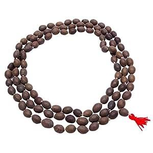 La semilla del loto tradicional Japa Mala Marrón Rosario Oración del grano Kamal Gatta