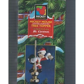 mr christmas disney mickey mouse animated tree topper - Mickey Mouse Christmas Tree Topper
