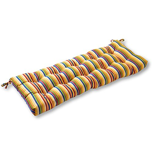 Sunbrella Fabric Indoor/Outdoor Swing/Bench Cushion, 46-Inch, Castanet Stripe (Sunbrella Bench Cushion)