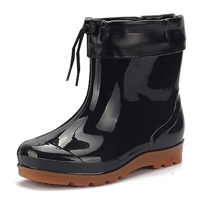 uirend Schuhe Regen Stiefel Stiefeletten Herren - Kurzschaft Stiefel  Gummistiefel Schuhe Gummistiefeletten Regenstiefel Chelsea Boots Herren 17988888bd
