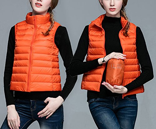 Veste Ultra Ake Manteau Orange Puffer Down Femme Blousons Windproof light qFqtU