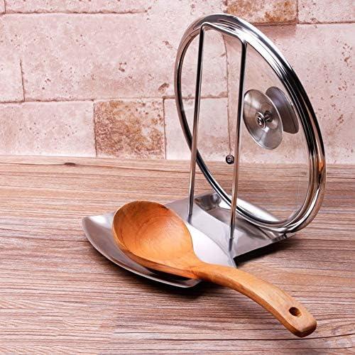 IBISHITAOXUNBAIHUOD Couvercle de Casserole en Acier Inoxydable Couvercle de Support Support de cuill/ère Repose Clips Accessoires de Rangement de Cuisine de Cuisine