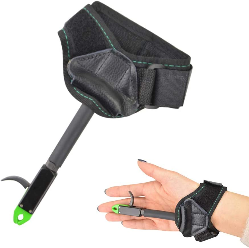 Archery Wrist Release Aids Caliper Trigger 360° Buckle Strap Compound Bow Target